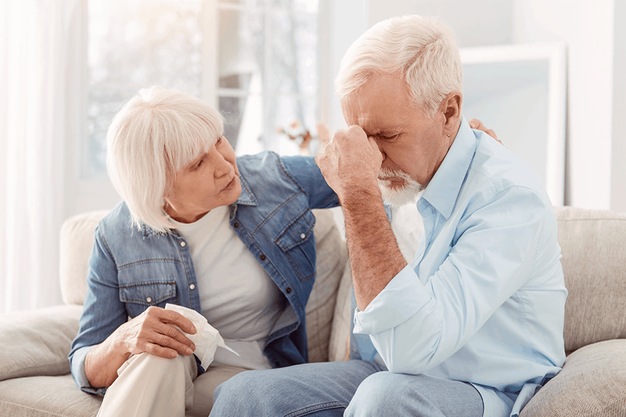 Spouse recognizes the signs of stroke in her husband